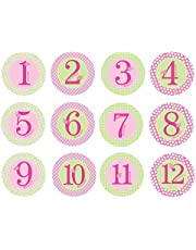 Pearhead Baby Milestone Stickers, Blue