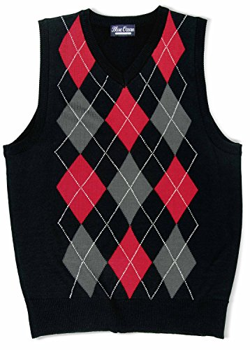 - Blue Ocean Kids Argyle Sweater Vest-16/Large