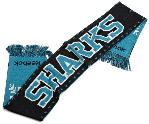NHL Men's Game Day Team Scarf (San Jose Sharks, One Size Fits All), Teal/black