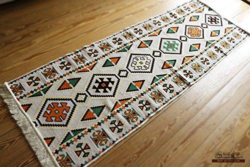 Chehade GmbH Carpet 70x200 cm,2,3'x6,5', Oriental Carpet Kilim Rug Kelim/Floor Mat,Tapestry wall hanging,Floor runner, Area Rug, Rugs,Teppich,Läufer,Tapis,Tapiz,alfombra S 1-3-43