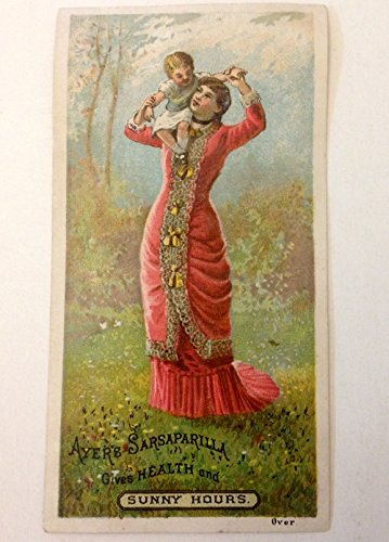 Original Vintage Victorian Trade Card Ayer's Sarsaparilla Mother and Child Lowell Massachusetts