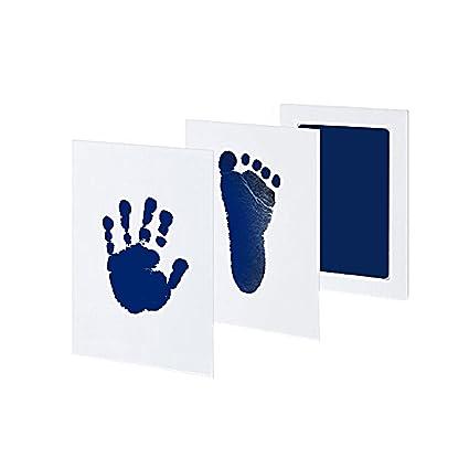 Almohadilla Tick Tocking de tinta para bebés, no deja residuos, segura y no tóxica