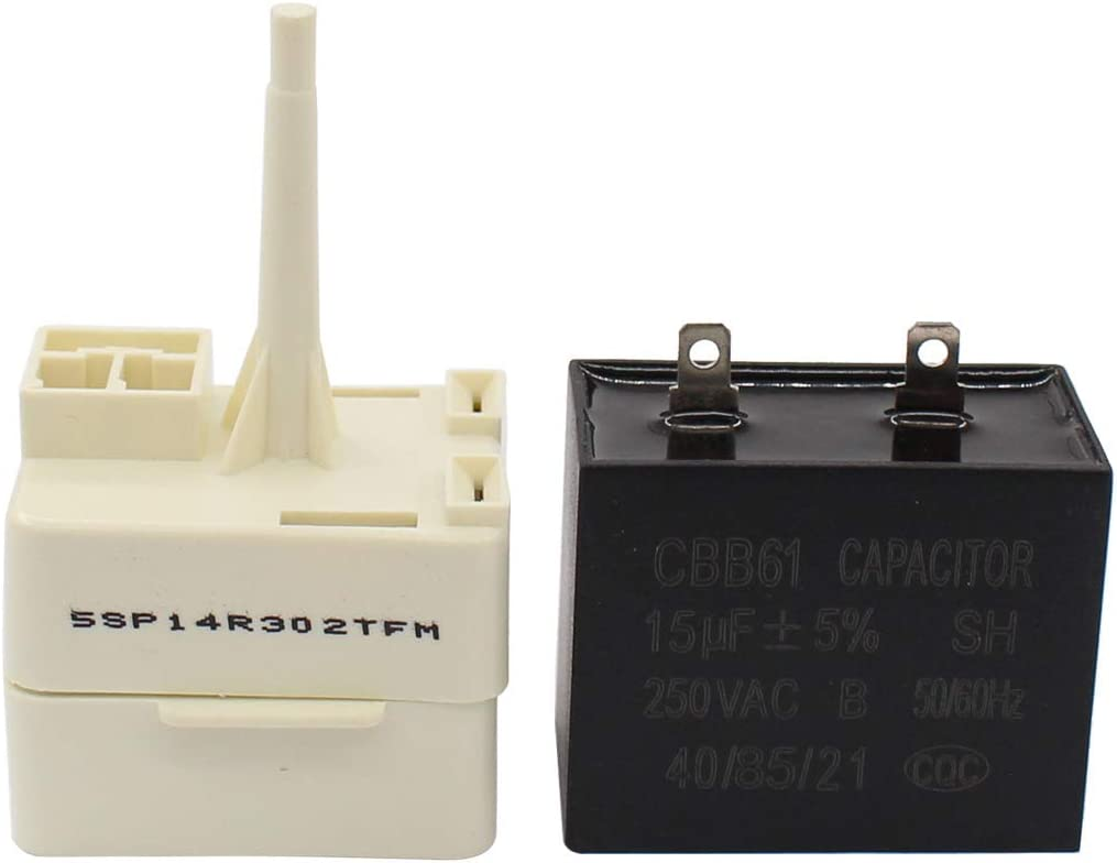 W10613606 Refrigerator Compressor Start Relay & Capacitor for Whirlpool KitchenAid Kenmore Fridges W10416065, PS8746522, 67003186
