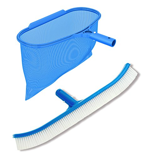 Pool Net and Brush - Professional Heavy Duty Maintenance Kit for Pool cleaning