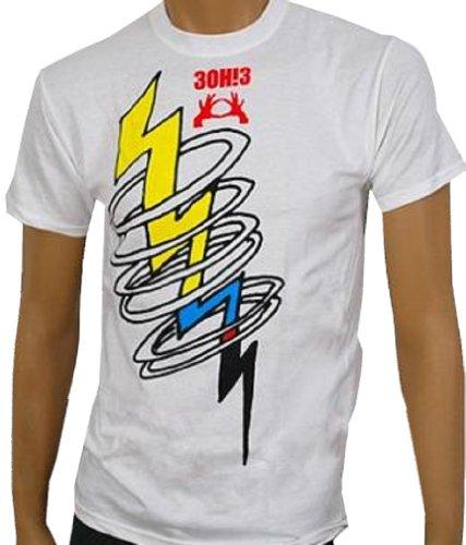 3OH!3 - Bolt - White T-shirt - size XL