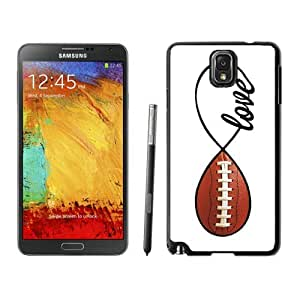 Samsung Galaxy Note 3 Case American Football Infinity Love TPU Black Phone Back Cover by supermalls