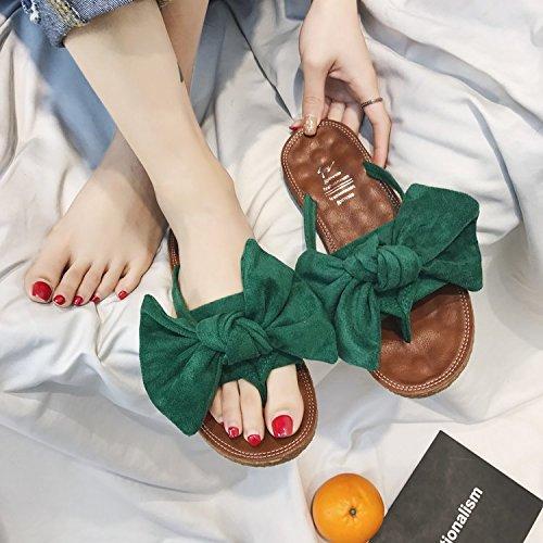 ITTXTTI Zapatillas de Verano de Las Mujeres Nuevas Salvajes Planas Flip-Flops Flojas de la Moda Pellizcar Sandalias de Playa C