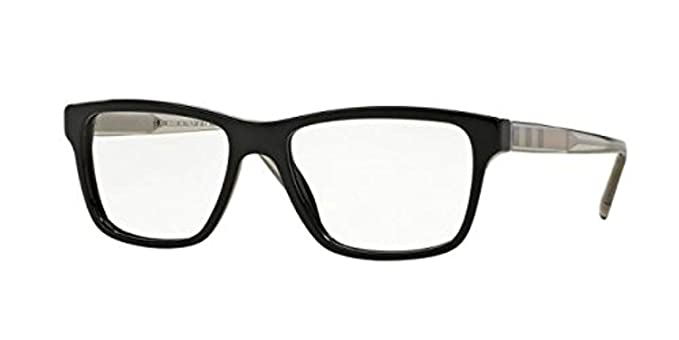 fe59419a0799 Burberry Men s BE2214 Eyeglasses Black 55mm at Amazon Men s Clothing store