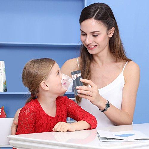 Punasi Mini Portable Inhaler, Handheld Ultrasonic Humidifier, Rechargeable Inhaler Machine for Adults Kids - Grey by Punasi (Image #4)