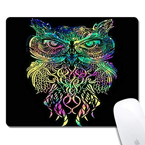 Gaming Mouse Pad - Thick Keyboard Mouse Mat Non-Slip Rubber Base Mousepad Rectangle 240x200x3mm Mouse Pad Custome Design Mouse Pad(Owl) ()