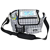 Damero Stroller Organizer Buggy Buddy Pram Storage Bag with Shoulder Strap and Stroller Strap, Spacious and Neat, Great for Baby Shower Gift-New Version