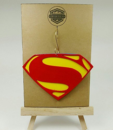 - Superman Ornament | Justice League | DC Comics | Rear View Mirror | Man of Steel | Gift Exchange | Secret Santa | Clark Kent