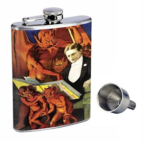 当店の記念日 ヴィンテージMagic Satan and Devils Perfection Devils Perfection inスタイル8オンスステンレススチールWhiskey B015QLIQVC Flask with Free Funnel d-488 B015QLIQVC, よよぎやshop:bd82d236 --- cafestar.in