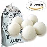 Felt Wool Dryer Balls,6 Pack XL Balls,Natural Fabric Softener...