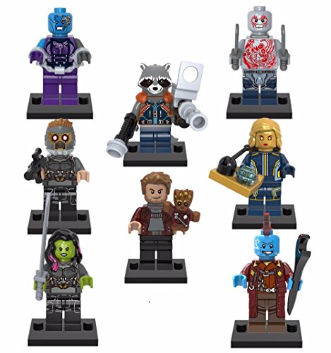Guardians of the Galaxy Marvel GOTG Movie 8 Minifigures set building Toys Super