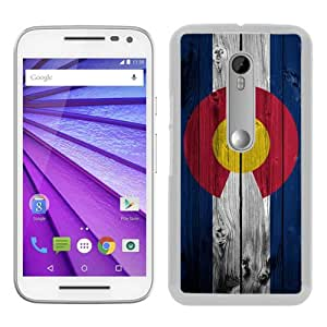 Unique Motorola Moto G 3rd Generation Case ,Hot Sale And Popular Designed Case With Dark Colorado Flag on wood White Moto G 3rd Gen Skin Cover Great Quality Phone Case