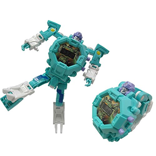 JSMKX Robot Watch Toys Deformed Watch Toy Deformation Robot Toys Kids Digital Watch for Kids Christmas Halloween New Year's Gift(Green ()