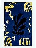 Composition on blue background (composition fond Bleu) by Henri Matisse 32x24 museum art print poster