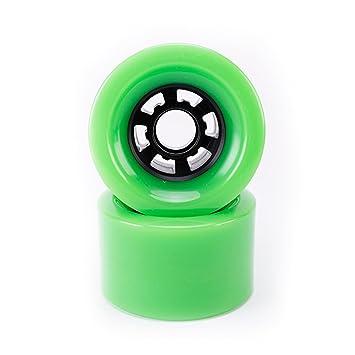 Buffalo - Ruedas eléctricas para monopatín (85 A, PU, 83 mm, para longboard), color verde: Amazon.es: Deportes y aire libre