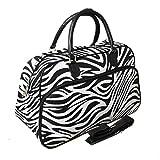 Cheap World Traveler Zebra Print Travel Bag, Black and White