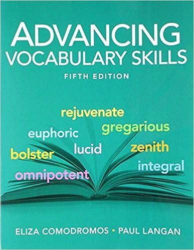 Advancing Vocabulary Skills Eliza Comodromos Paul Langan 9781591945284 Amazon Com Books