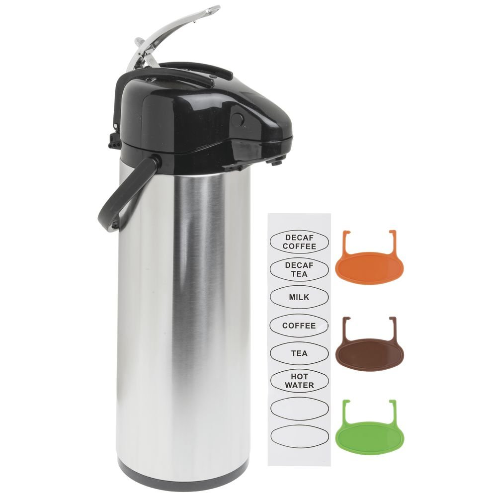 Airpot Coffee Server Thermal Coffee Di3L Stainless Steel Glass-Lined Lever Lid Air Pot
