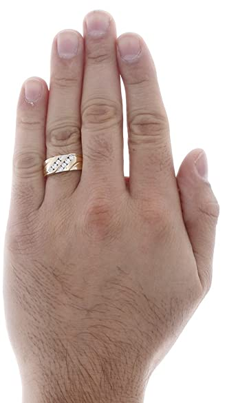 10k Mens Wedding Bands 91 Ideal K Yellow Gold Channel