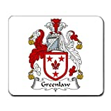 Greenlaw Family Crest Coat of Arms Mouse Pad