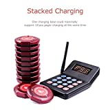 NADAMOO Restaurant Pager System with 10 Coaster
