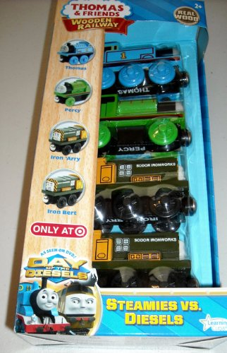 Thomas & Friends Wooden Railway Steamies vs Diesels (Thomas And Friends Iron Arry And Bert)