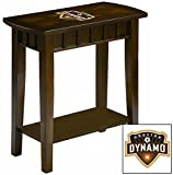 NEW! Chairside Table in an Espresso Medium Brown Finish Featuring the Choice of Your Favorite Sports Team Logo! (Dynamo)