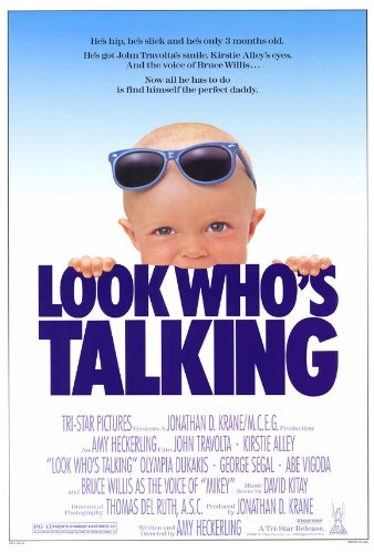 Look Who's Talking Film Poster (27 x 40 Inches - 69cm x 102cm) (1989) -(John Travolta)(Kirstie Alley)(Olympia Dukakis)(George Segal)(Abe Vigoda)
