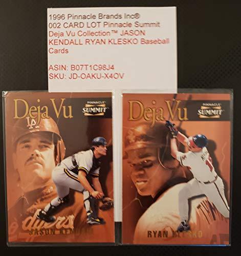 1996 Pinnacle Brands Inc® 002 CARD LOT Pinnacle Summit Deja Vu CollectionTM JASON KENDALL RYAN KLESKO Baseball Cards