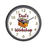 """CafePress - Dad's Workshop - Unique Decorative 10"""" Wall Clock"""