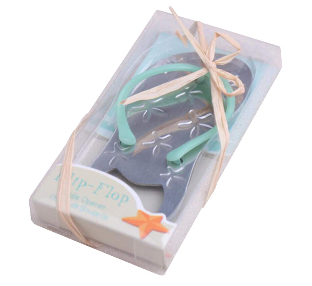 Pop the Top Flip-Flop Starfish Bottle Opener For Wedding Party Favor Gift (40, Blue) by cute rabbit
