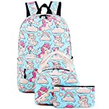 "Backpack for School Girls Teens Bookbag Set Water Resistant 15"" Laptop Daypack"