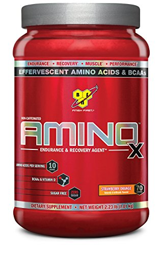 BSN Amino X Post Workout Muscle Recovery & Endurance Powder with 10 Grams of Amino Acids Per Serving, Flavor: Strawberry Orange, 70 Servings (Packaging May Vary)