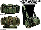 Ultimate Arms Gear 5 in 1 Tactical Modular Deployment Compact Utility Carry Bag MOLLE Case Heavy Duty Combat Multi-Functional Equipment Survival Assault Transport Compatible Pistol Gun Camera Electronic Device Gear Pack with Adjustable Slip Shoulder Detachable Length Straps Modular PALS Attachment System Shooting Range Patrol (Marpat Woodland Digital Camo)