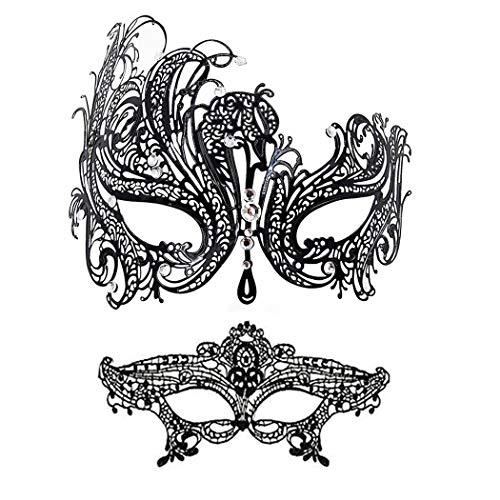 (Masquerade Mask Women Shiny Rhinestone Venetian Party Prom Ball Metal Mask)