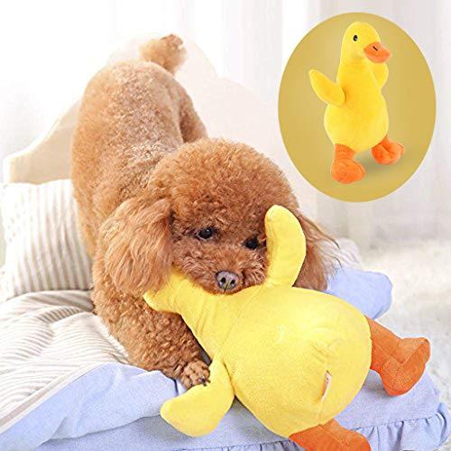 ペット犬のおもちゃぬいぐるみ小さな黄色いアヒルのおもちゃ犬用品ぬいぐるみ声犬のおもちゃぬいぐるみアヒルの子はストレス運動不足を解消ペットのおもちゃ猫のおもちゃスポーツ不十分な減圧犬咬傷人形のおもちゃ (イエロー)