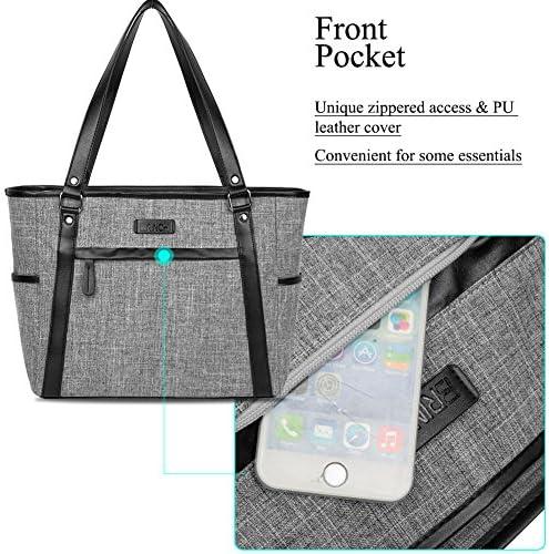 FOSTAK Bolso de hombro de viaje para Messenger, Work, MacBook y ordenador portátil 15.6 nylon Gris: Amazon.es: Informática