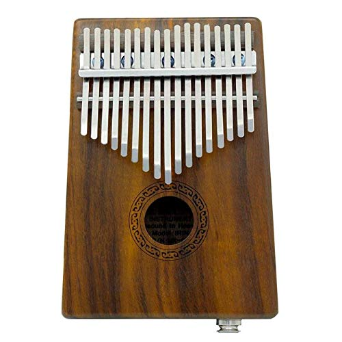 Bowbof - 17 Keys Wood Thumb Harp Piano with Shock Proof Kalimba Case Tuning Thumb Piano Finger Percussion Keyboard Tool Set