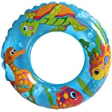 """Intex 24"""" Inflatable Transparent Ring Swim Tube #59242 - Color May Very - 2 Pack"""