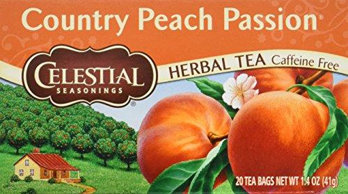 Celestial Seasonings Peach Tea - Celestial Seasonings Country Peach Passion Herbal Tea - Pack of 6