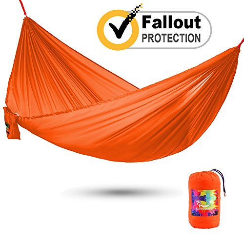 Calm Outdoor Portable Camping Hammock with 16 ft. EXTRA-long Straps + UNIQUE COCOON TECHNOLOGY, Ultra Compact & Lightweight - just 1 lb, Easy Installation