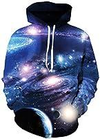 Pandolah Women's Sports Galaxy 3D Print Cosmic Sweatshirts Athletic Hoodies
