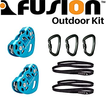 Image of Fusion Climb Double Pulley System Used for Camping, Hauling, Climbing, Outdoor, Indoor, Rescue, and More. Backpack Accessories