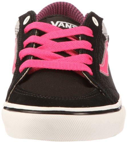 Vans Aubree Slim (Check Plaid) black/pink VNJR5GN - Zapatillas de ante para mujer Negro