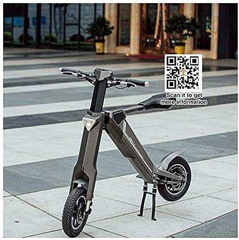 TZ® Bicicleta Plegable Bicicleta Plegable 12 Pulgadas Bicicleta Eléctrica + 36V Batería + 250W de Potencia + 7.5A Batería Importada LG, Color Gris, tamaño 250W Motor 36V 7.5A: Amazon.es: Deportes y aire libre