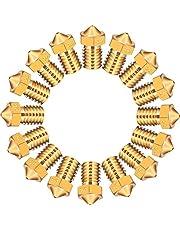 16 Piezas de Boquilla M6 Extrusoras de Impresora 3D 7 Tamaños Diferentes 0,2 mm, 0,3 mm, 0,4 mm, 0,5 mm, 0,6 mm, 0,8 mm, 1,0 mm para Makerbot Impresora 3D